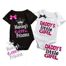 42b82de686c Summer Newborn Infant Baby Boys Girls Daddy Mommy Letter Romper Jumpsuit Clothes  Outfits(China)