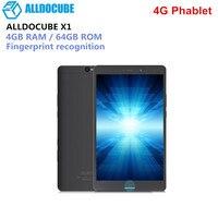 Ветвью ALLDOCUBE и X1 4G планшетофон (плафон) 8,4 дюймов Android 7,1 планшетный ПК MTK X20 MT6797 Deca Core, размер экрана 4 Гб Оперативная память 64 Гб SSD отпечатков па