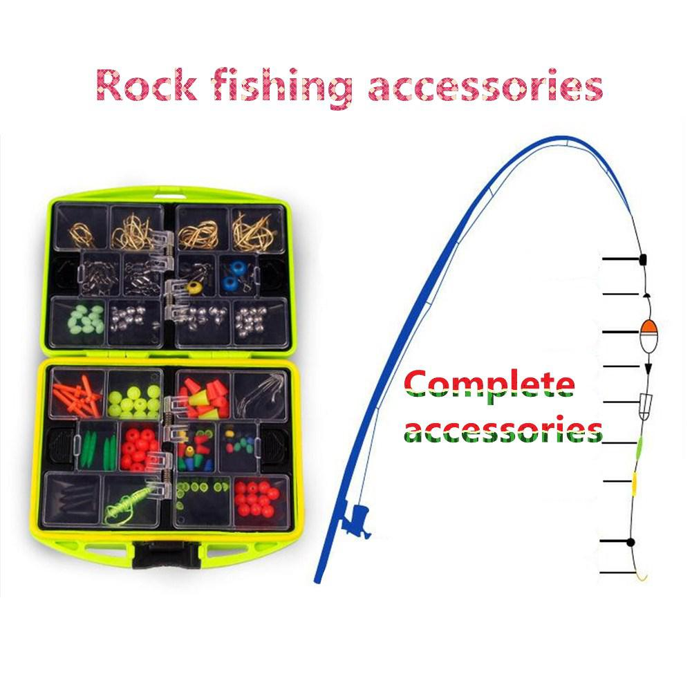 Mounchain 1Set fishing tackle box Outdoor Rock Fishing Accessories Swivels Snap Hook Sinker Beads Set 12*9*22 cm|Fishing Tackle Boxes|   - title=