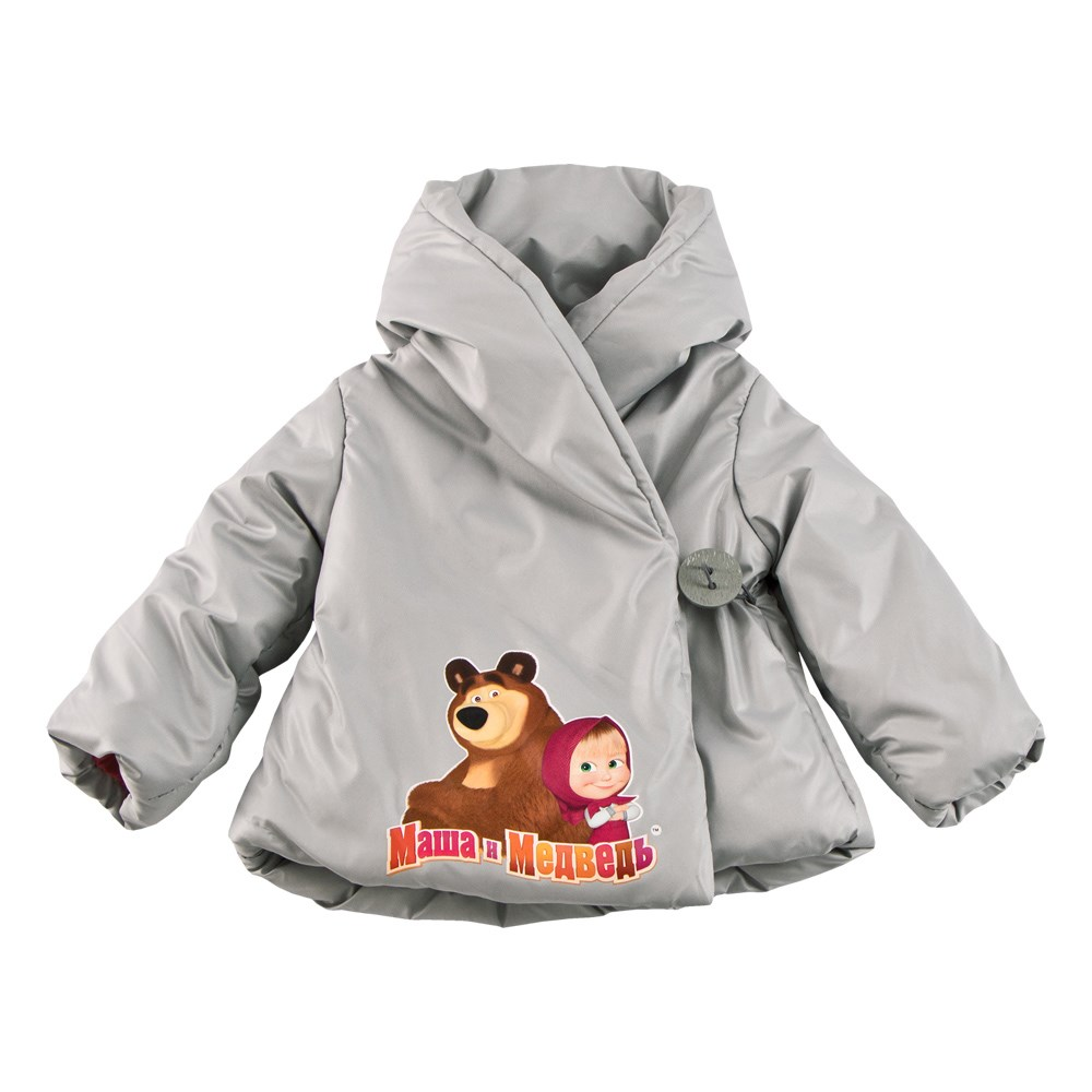 Masha and the Bear Jacket scented gray 18 5 dark gray and light gray and white and transparent holographic rear projection film