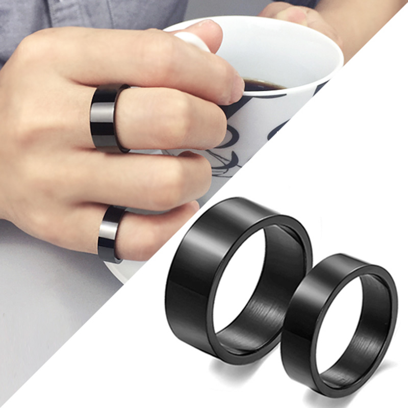 Allergy Free Simple Titanium Black Hot Sale Gifts Fashion Men's Preferred 1PC Graceful 2018 New Arrival Wedding Beautiful Ring