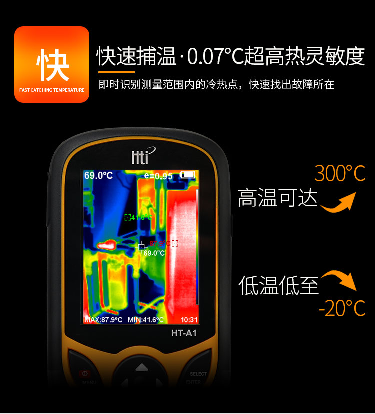 Thermal Camera With Display Screen for Outdoor Hunting Fast 5