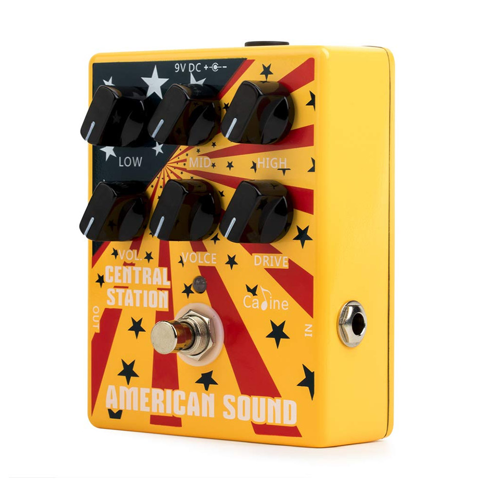 Caline CP 55 Overdrive Distortion Guitar Pedal High Gain 3 Band EQ Guitar Effect Pedal Aluminum