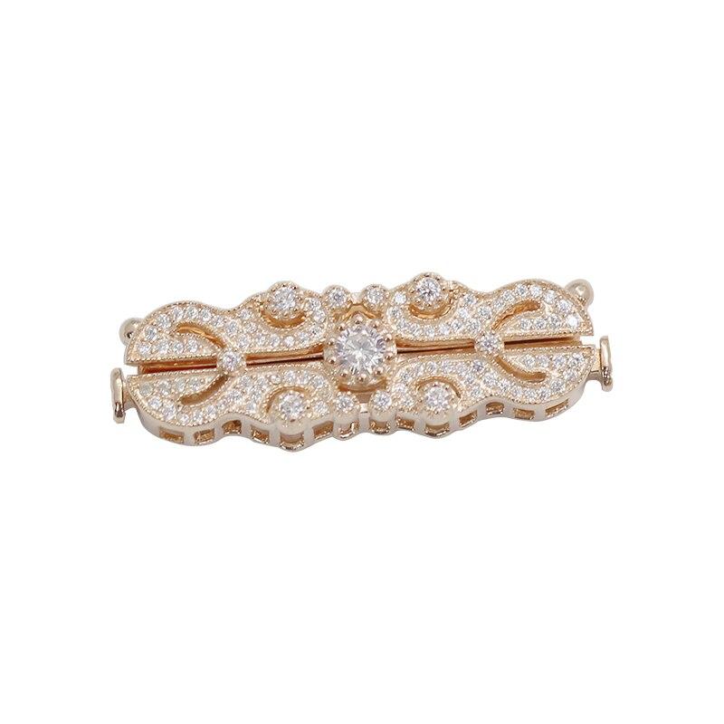 Beadsnice 925 collier en argent Sterling fermoir faisant CZ pavé bijoux Multi brin collier fermoir - 2
