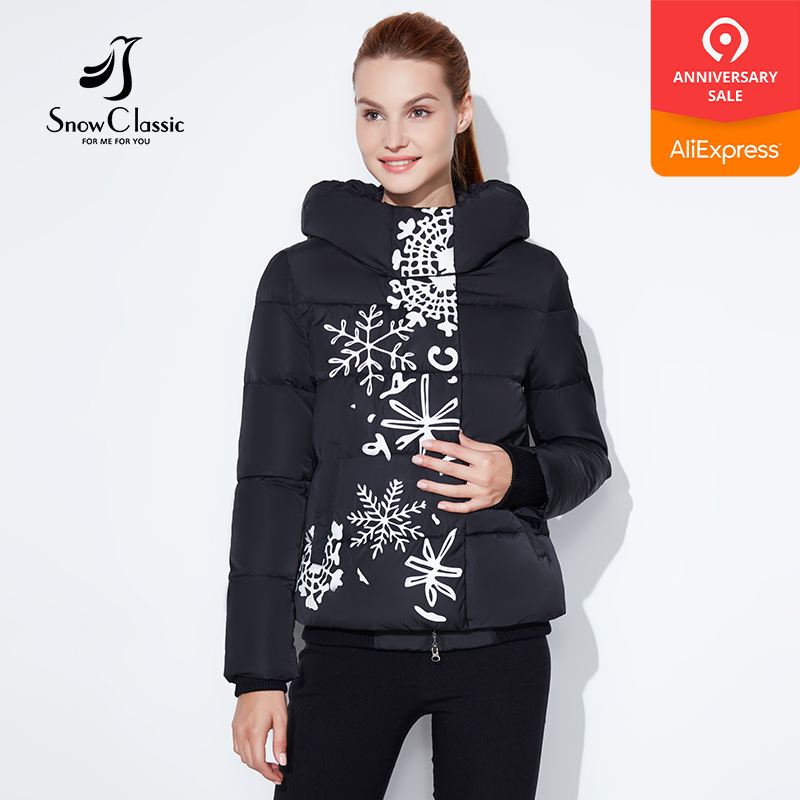 66cd008c2e0 Snowclassic regular models lady printing casual fashion cotton zipper plus  button asymmetrical design European style winter