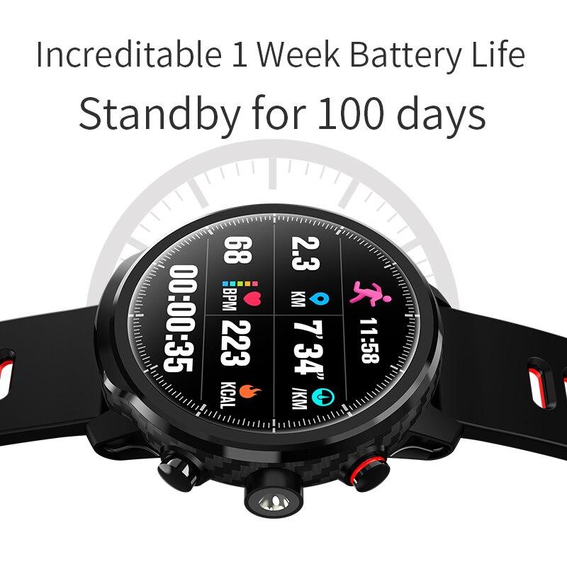 L5 montre intelligente étanche hommes montre intelligente Bluetooth Android bracelet rappel d'appel fréquence cardiaque podomètre natation Ip68 - 6