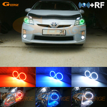 Для Toyota Prius 2010 2011 2012 2013 галогенная фара RF Bluetooth контроллер многоцветный RGB комплект светодиодов «глаза ангела»