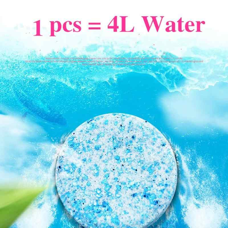 5/10pcs Car Windshield Glass Washer Cleaner Compact Effervescent Spray Cleaner Tablets Detergent with Watering Sprayer