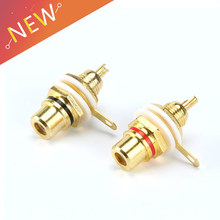 1 Pair RCA Female Socket Connector Chassis Panel Mount Adapter Audio Terminal Plug 3.5mm Plug AV Plug(China)