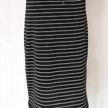 Black And White Striped Dresses Casual Elegant Sheath Slim Dress ST01