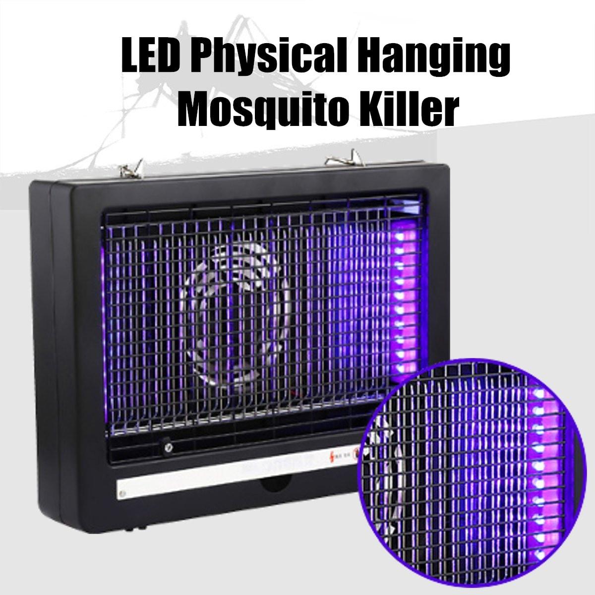 Garden Mosquito Dispeller LED Lamp Electric Bug Zapper Mute Safe UV Mosquito Killer Light Fan