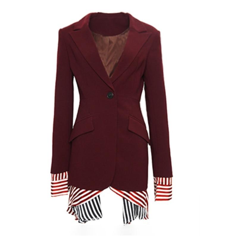 Costume Nouveau Manches Petit Mode Shown 2019 Veste Longues Printemps As Qf352 Unique À Supérieure Couture Femmes De Bouton Col Deat Qualité YwEt6q6