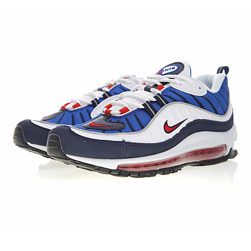 NIKE AIR MAX 98 zapatos originales para correr para hombre zapatillas transpirables de absorción de golpes antideslizantes #640744 100