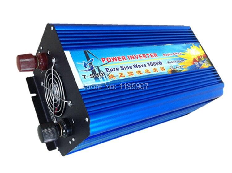 Dual digital display 3000w pure sine wave inverter DC12V/24V input to AC110V/220V output for solar system