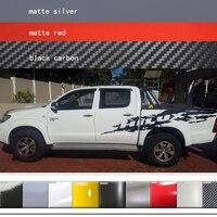 Car Stickers 2Pcs Side body Rear Trunk Mud Splash Invincible Graphic Vinyl Car Wrap fit for TOYOTA HILUX