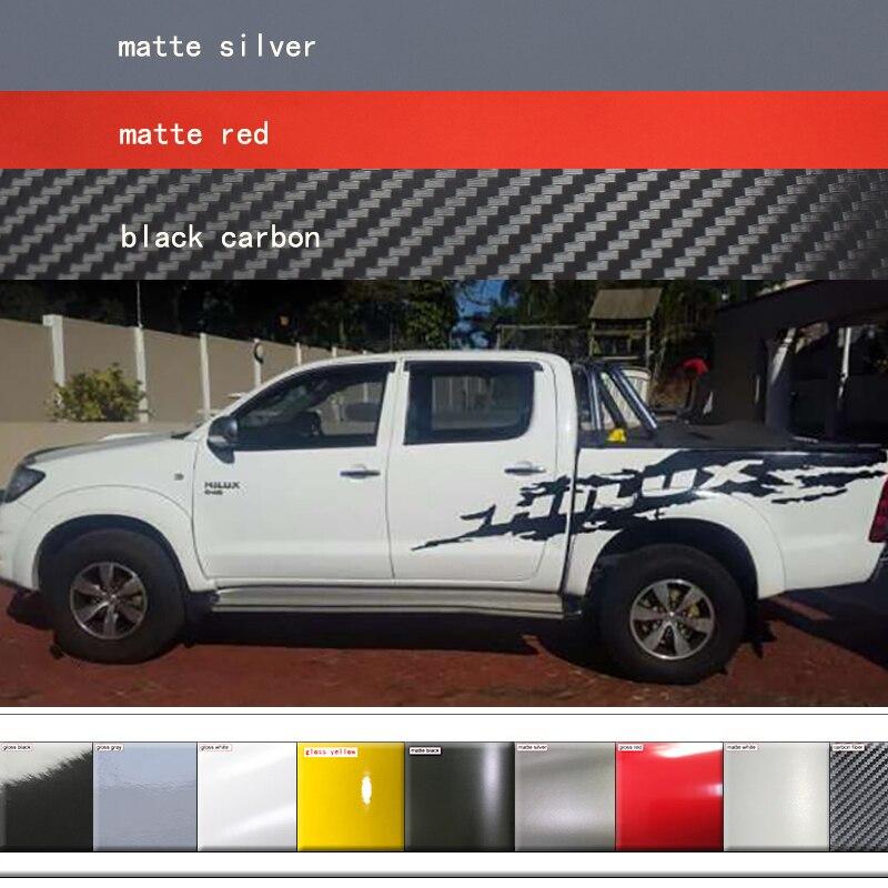 Autocollants pour voiture 2 PC Côté Arrière Tronc Boue Splash Invincible Graphique housse de voiture en vinyle pour TOYOTA HILUX