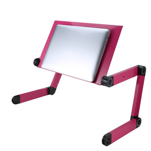 Image 5 - 접이식 노트북 노트북 스탠드 침대 트레이 조정 가능한 컴퓨터 책상 테이블 알루미늄 합금 휴대용 미끄럼 방지 테이블 사무용 가구