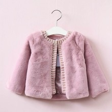 spring girl fur jackets girls outerwear coats pink fleece worm kids jacket toddler baby outfit fashion children clothes