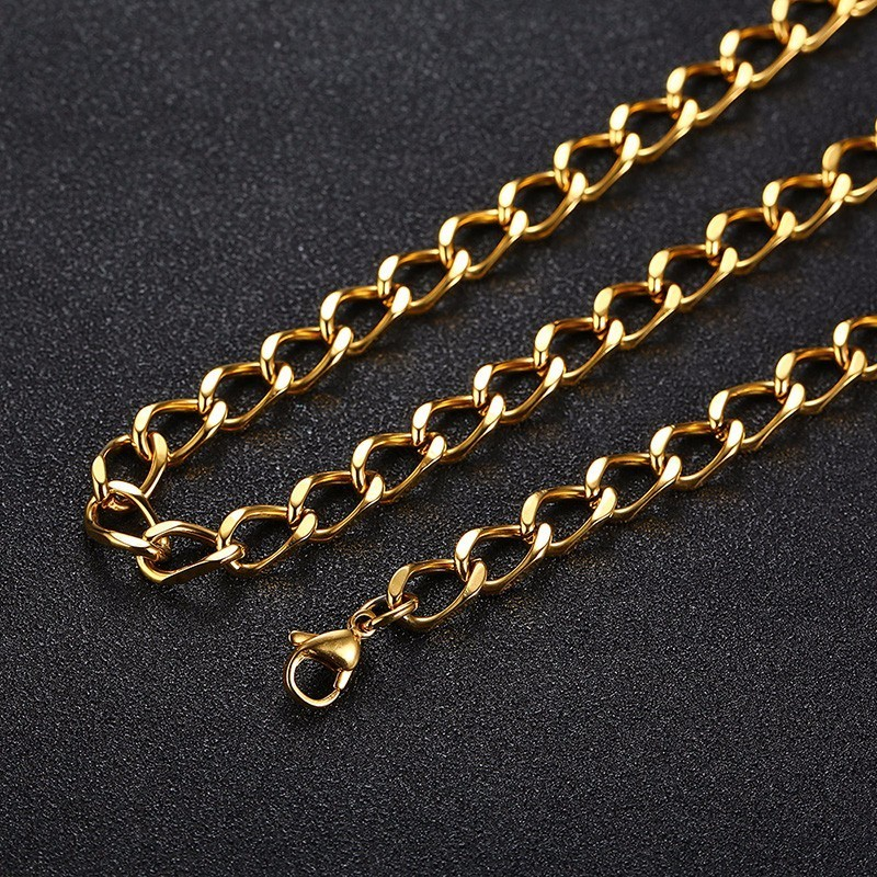Solid Stainless Steel Chain in Gold Color
