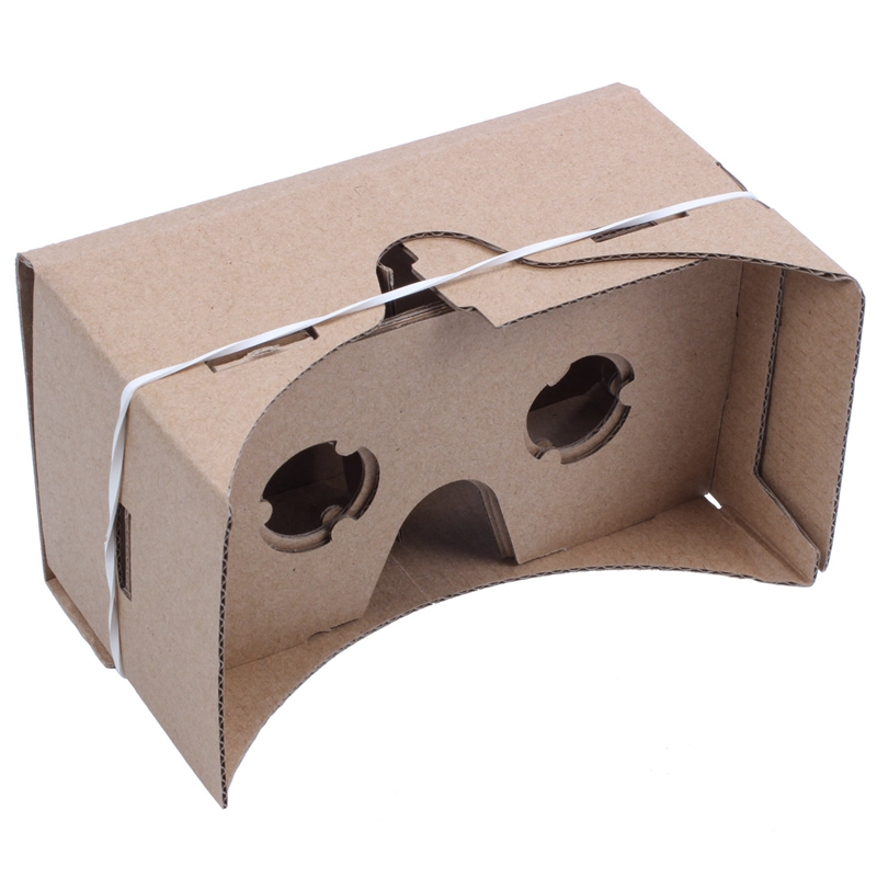 6 inch DIY 3D VR Virtual Reality Glasses Hardboard For Google Cardboard in 3D Glasses Virtual Reality Glasses from Consumer Electronics