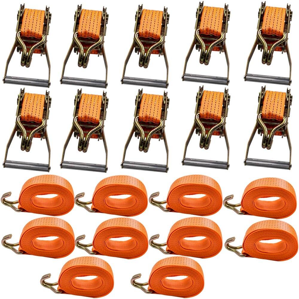 Закрепление нагрузки 6 м x 5000 кг Professional крепежный ригельный ремешок Tie Down Trailer 6 м/19,68 дюймов длинные 50 мм 5000 кг