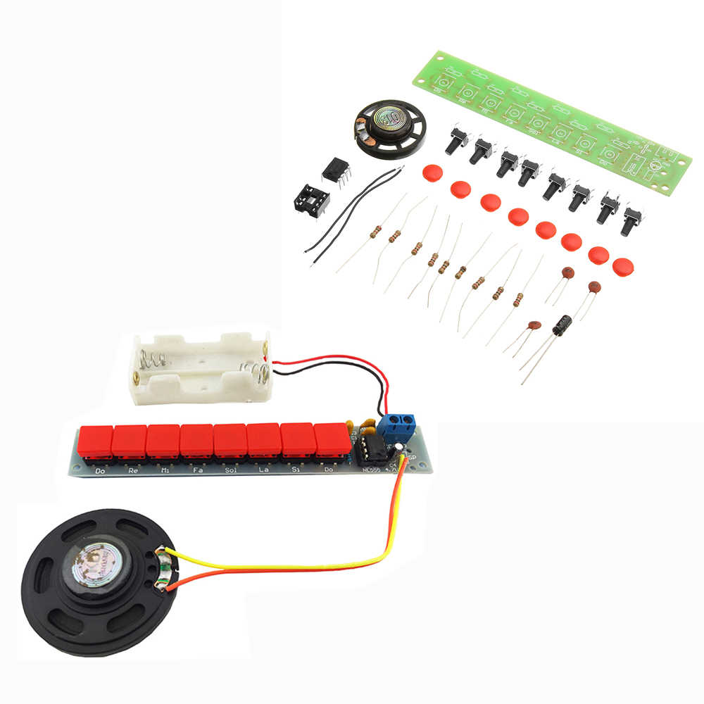 CLAITE DC3-12V NE555 электронный компонент блока Запчасти комплект Электрический шарманка модуль DIY Kit