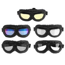 UV Protection Sandproof Retro Motorcycle Glasses Jet Aviator Pilot Gog