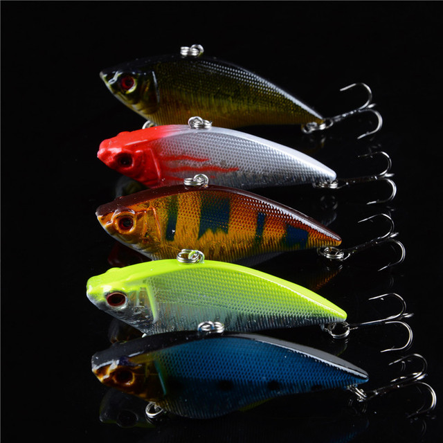 Special Offer Hot Sale 5PCS Hard Vibe Bait Sinking Lures 3D Eyes Fishing Tackle Wobbler Deep Free Shipping