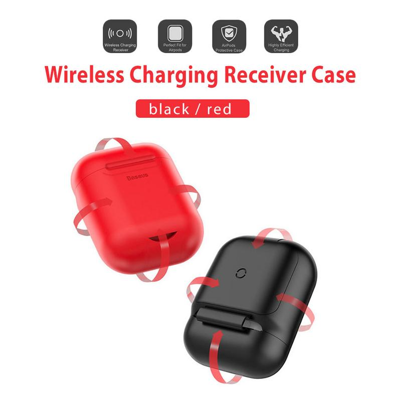 Image 5 - Portable Protector Wireless Earphones Charging Receiver Case Silicone Soft TPU Ultra Thin Protective Cover For Apple Airpods-in Earphone Accessories from Consumer Electronics