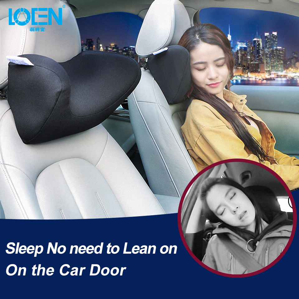 memory foam u shaped car seat neck pillow auto headrest pillow universal support adjustable rest cushion protect cervical spine