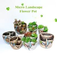 2019 Hot Sale Mini Succulent Planter Flower Plant Bonsai Pot Micro Landscape Garden Decoration