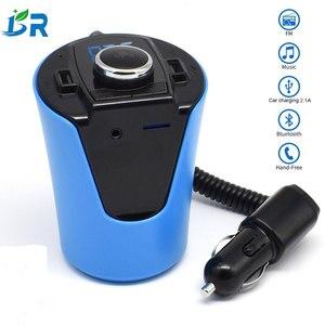 Bluetooth Fm передатчик Handsfree автомобильный комплект Usb Автомобильное зарядное устройство для Iphone/ipad