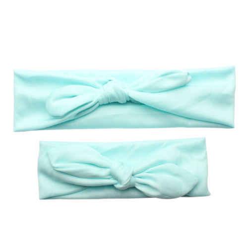 Эластичный ободок чалма с бантиком для маленьких девочек, женский головной убор, 2 предмета, для мамы и дочки