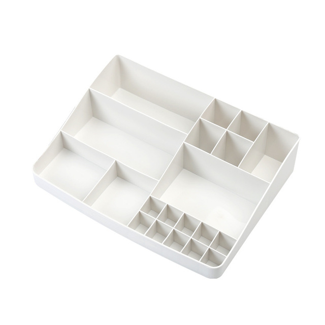 1Pcs Makeup Cosmetic Storage Plastic Box Lipstick Nail Rack Desktop Storage Box Debris Storage Box