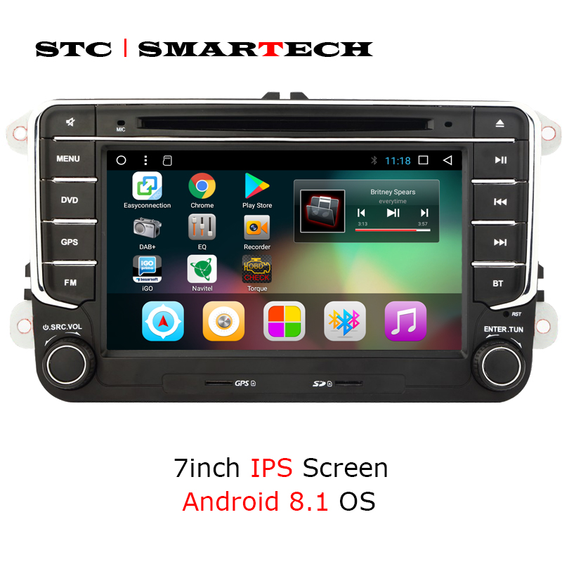 SMARTECH 2 din Android 8 1 Car Multimedia Player car stereo radio system for VW Volkswagen