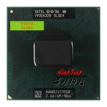 Intel Core Duo 2 T9550 SLGE4 CPU Processador de 2.6 GHz Dual-Core Dual-Fio 6 M 35 W tomada P