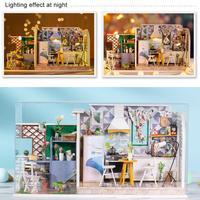 Wooden Miniature Dollhouse Kit DIY Art House Crafts Perfect Birthday Gift For Girls DIY Cabin Set Dollhouse Kit