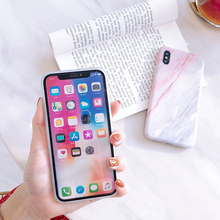 Phone Case iPhone 6 6s 7 8 Plus Glossy Granite Stone Marble iPhone 11 Pro X XS Max XR Shell SA
