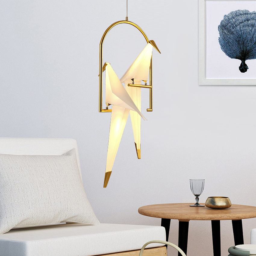 Contemporary Paper Crane Led Metal Pendant Lamp Light Fixtures Loft Living Room Dining Room Bedroom Bird Design Hanging LampContemporary Paper Crane Led Metal Pendant Lamp Light Fixtures Loft Living Room Dining Room Bedroom Bird Design Hanging Lamp
