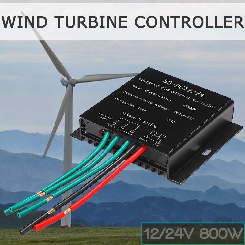 New 800W 12/24VWind Power Generator Battery Charge Controller IP67 Waterproof Wind Generator Controller For below Wind GeneratorNew 800W 12/24VWind Power Generator Battery Charge Controller IP67 Waterproof Wind Generator Controller For below Wind Generator