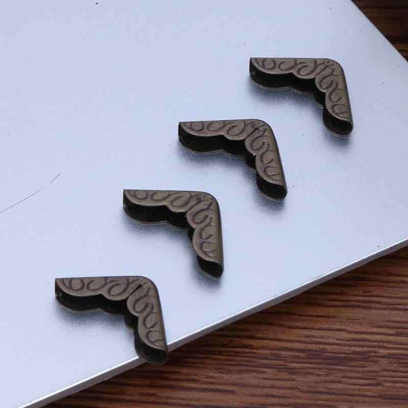 VODOOL 10pcs Notebook Protetores de Canto Álbuns Pasta Do Menu de Bronze Antigo do Metal Livro Recados Home Decor Escritório Escola Suprimentos