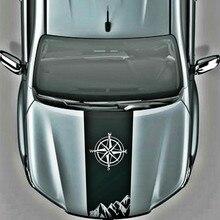 off road compass mountain decal hood graphic vinyl car sticker for toyota hilux revo vigo