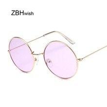 Gafas de sol ovaladas Retro para mujer, gafas de sol de lujo de marca de diseñador Vintage con montura metálica pequeña Unisex, gafas de sol para mujer, gafas UV400