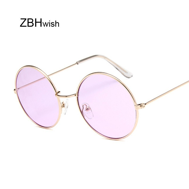 e5fed683e5 Retro Oval gafas de sol de la marca de lujo de las mujeres Vintage de diseñador  Unisex pequeño marco de Metal Color lentes gafas de sol para mujer UV400