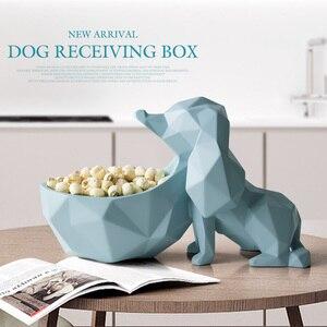 Image 3 - עיצוב הבית אביזרים שולחן שרף בעלי החיים פסל ממתקי מלאכות אגוז מפתח טלפון אחסון תיבת שרף כלב צלמית