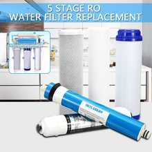 5  Reverse Osmosis RO Replacement Water Filter Kit With 75 GPD Membrane Water Filter Cartridge Household Water Purifier