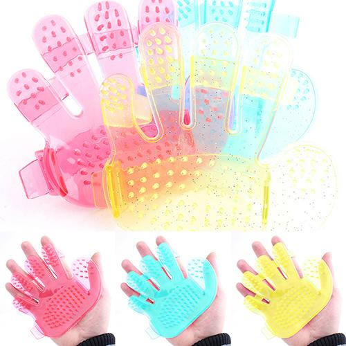 Cat Dog font b Pet b font Bath Brush Shower Comb Hand Shape Massage Glove Cleaning