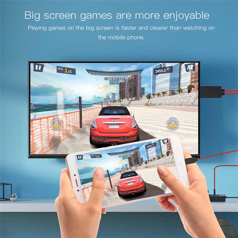 Robotsky المصغّر USB محول HDMI 11Pin ذكر إلى HDMI USB ذكر 1080P TV محول كابل لسامسونج غالاكسي S3 S4 S5 نوت 2 3 4