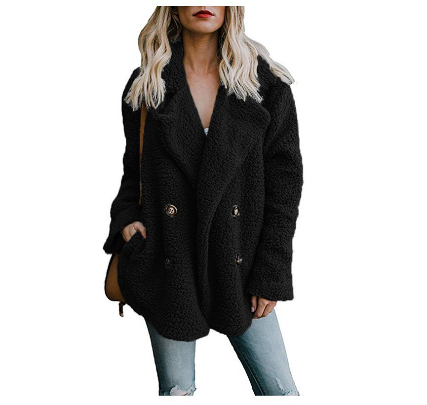 Pengpious 2018 European and American style autumn women coat ladies coat tops female turn-down collar long sleeve outwear jacket