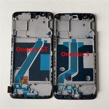 شاشة Amoled LCD تعمل باللمس بإطار ، Supor ، M & Sen ، لـ Oneplus 5T ، A5010 ، أصلي